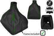 Green Stitch Leather Manual Shift Boot+plastic Frame For Volvo 240 740 940