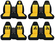 Fits Ford Ranger/truck Car Seat Covers 60-40 Console Not Included Blk-yellow.
