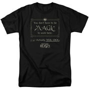 Fantastic Beasts Magic To Work Here Short Sleeve T-shirt Licensed Graphic Sm-7x