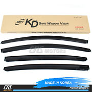 Smoked Window Sun Vent Visor Rain Guards 4pcs For 2012-2017 Kia Rio Sedan 4door