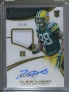 2015 Immaculate Numbers Memorabilia /88 Ty Montgomery 139 Rpa Rookie Patch Auto