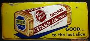 Spaulding Table Queen Enriched Bread 1956 Single Sided Tin Vintage Sign