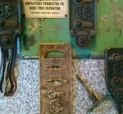Elevator Parts Call Button Lighted Panel Antique