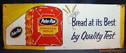 Peter Pan Bread At It's Best By Quality Test Single Sided Vintage Sign