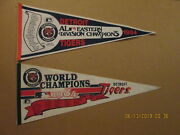 Mlb Detroit Tigers 1984 Eastern Division Champs And 1984 World Champions Pennants