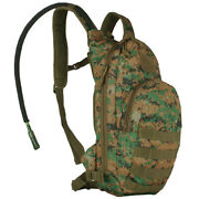 Compact Modular Tactical Hydration Pack Woodland Digital Backpack Fox 56-353