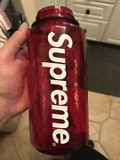Supreme S/s14 Nalgene Water Bottle With Carabiner Box Logo Red Authentic