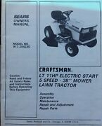 Sears Craftsman Lt 11 Riding Lawn Tractor Andmower Owner And Parts Manual 917.254230