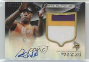 2012 Topps Platinum Refractor Black /125 Greg Childs 165 Rpa Rookie Patch Auto