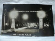 Hartford Wi Wisconsin Street Scene At Night Early 1900and039s Rppc Postcard