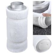 6 450cfm Hydroponic Air Carbon Filter Odor Control Scrubber For Inline Exhaust