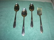 Vtg 1937 Wm. Rogers Is Memory/hiawatha Silver Plate 3 Serving Spoons And 1 Fork