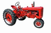 Red Farmall Tractor. Nostalgia. Giclee Photo Prints On Canvas Or Paper