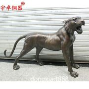 123 Cm Chinese Zodiac Animal Pure Bronze Counteract Evil Force Tiger Roar Statue