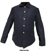 Blue Wool 5-button Blouse Sack Coat Size 40 Short Wool Lined Indian Wars Saw