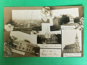 Zs187 Rppc Multi-view Perryville Mo Presbyterian Church Luthern 1910 Real Photo