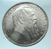 1911 Germany Bavaria Otto I W Luitpold Antique Silver 3 Marks Coin I78806