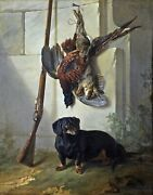 The Dachshound Pehr By Jean-baptiste Oudry. Highest Quality Made In U.s.a Prints