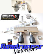 Milltek Golf R Mk6 3 Exhaust System Race Non Valved Resonated And Race Cat Black