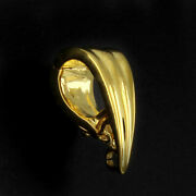 10k Solid Yellow Gold Bail 6 X 15mm For Pendant With Findings