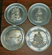3 Dimensional Approx 9 Sterling England Michelangelo Plates Set Of 4