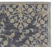 Adeline Blue 8and039x10and039 Oriental Oushak Floral Hand-tufted 100 Wool Area Rug Carpet