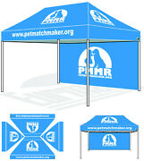 10and039x15and039 Replacement Custom Top Printed Cover W/ Custom Back Wall For Canopy