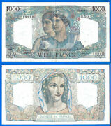 France 1000 Francs 1949 Serie R Great Bill Minerve Hercules Europe Free Ship Wld