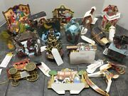Vtg 90s Christmas 3-d Fold Out Die Cut Pop Up Cards Lot Of 16
