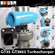 Emusa Blue Gt35 Gt3582 Turbo Charger T3 Ar.70/82 Anti-surge Compressor