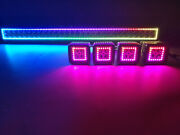 32 Led Light Bar + 4x 3 Led Pods Rgb Halo Chasing Bluetooth For Truck Suv 30