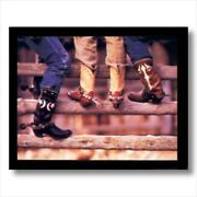 Old Cowboy Boots Spurs Western Wall Picture Art Print