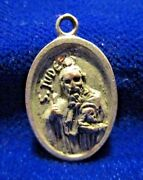 St Jude Medal High Relief Signed Td Silvertone