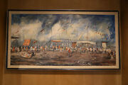 Pascal Cucaro, Bazaar Signed, Original Oil Painting On Canvas.