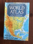 Websters World Atlas Almanac Chart Collectible Handy Maps Home Vintage Reference