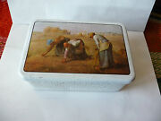 Massilly Tin Box France Harvest Used Rare 190 X 120 X 69 Mm Used Rare Empty
