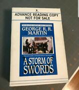 Signed A Storm Of Swords George R R Martin. Acr. A Game Of Thrones 2nd Book