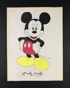 Andy Warhol 1928-1987 Andnbspmixed Media Drawing Mickey Mouse