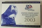2003-s Us Mint 50 State Quarters Proof Coin Set W/box And Coa 5 Pieces In Set