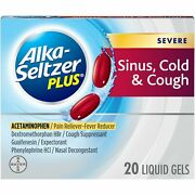 Alka-seltzer Plus Severe Sinus Cold And Cough Non-drowsy Liquid Gels 20 Ct, 6 Pack