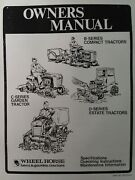 Wheel Horse B C D Lawn And Garden Tractor Owners Manual B-115 D-200 B-165 C-175