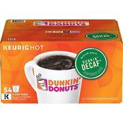 Dunkin' Donuts Decaf Original Coffee 54 To 216 Keurig Kcups Pick Any Size