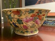 19th Century Chinese Antique Butterfly Bowl 1830-1900 Beautiful Rare Collectible