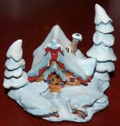 Wdcc Enchanted Places Peter And The Wolf Nestled In The Snow Ornament Figurine