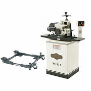 Shop Fox W1812 2hp 220v Single-phase Planer With Stand D2057a Mobile Base
