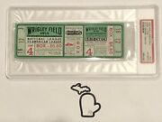 Full 1935 World Series Game 4 Chicago Cubs V Detroit Tigers Ticket Psa