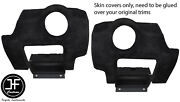 Black Stitch 2x Side Vent Panel Suede Covers For Lotus Elise Exige S2 07-13