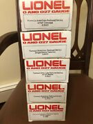 New Lionel Famous American Railroad Series Atsf Reefer, Dome,hopper,caboose Cars