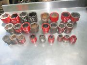 26 Pcs Mozat Williams Snap-on Wright Tool 3/4 And 1 Dr Impact Sockets 7/8 To 3