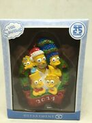 The Simpsons Christmas Ornament - Dep. 56 - 2014 Edition - Whole Family
